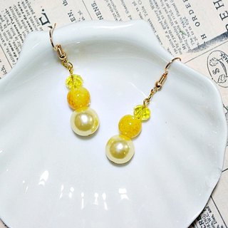 Alloy <Golden Coast> _ hook earrings => limited X1