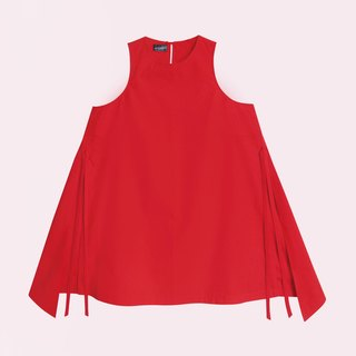 Butterfly long tail round neck long vest BUTTERFLY'S LONG TAIL CREW NECK TOP