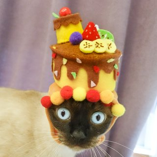 Customized birthday cake cap pet cat dog hat cap * S number