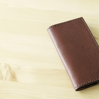 I want to use it for a long time Italian leather iPhone case chocolate Italian leather iPhone case # choco