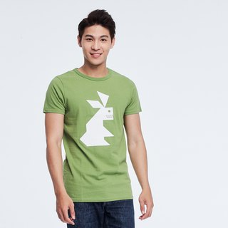 Rabbit peach cotton T-shirt Man