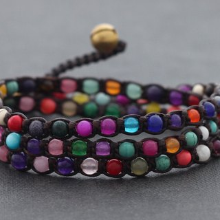 Candy Bracelets Stone Mix Colorful Vivid Woven Bracelets Anklets