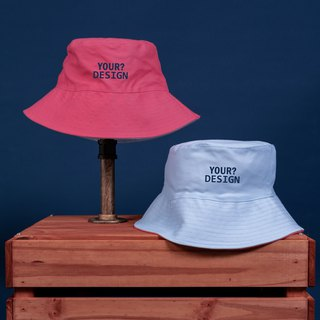 [Customized Valentine's Day Gift] Two-colored fisherman hat / Pink / Pink Blue