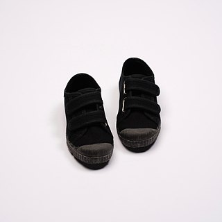 Spanish canvas shoes black black devil felt scented shoes can be washed U78020