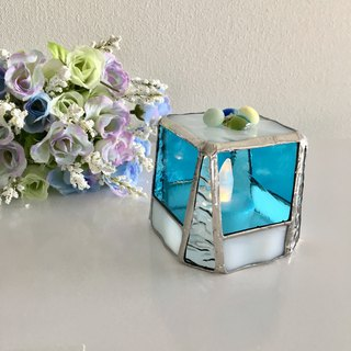 Sweet night LED Candle Holder Turquoise Blue Bay View