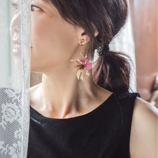 Dried Flower, Preserved Flower earring