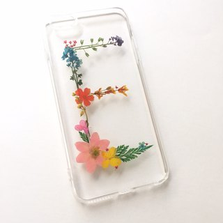 E for Elsa:: initial pressed flower phonecase
