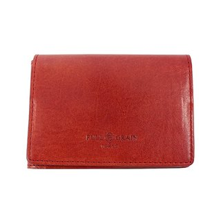 FULLGRAIN │ classic simple two fold wallet card holder retro red orange