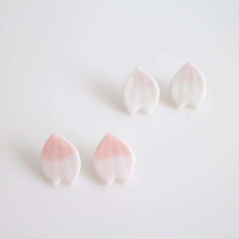 Sakura petal earrings