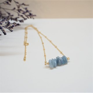 << Aquamarine - Necklace >> Natural stone short chain clavicle chain (limited to one)
