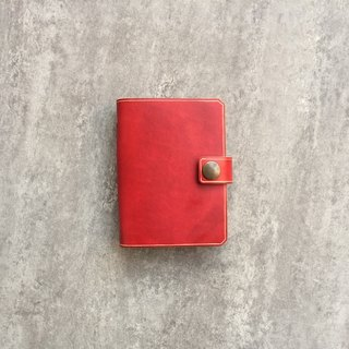 Red Simple Leather Card Holder / Leather Business Card Holder / Ticket Holder