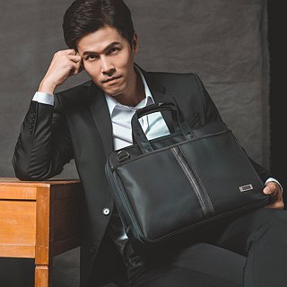 British GQ x U2 Bags - Extreme Black Waterproof Men's Briefcase Business Bag Computer Bag
