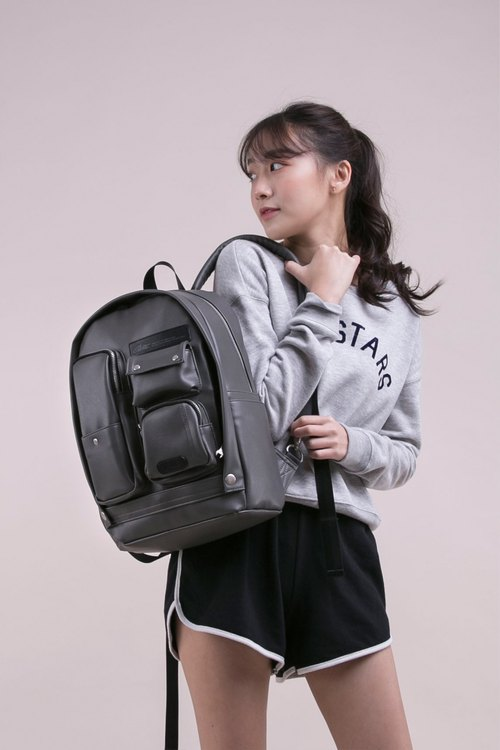 2018 Twin Series - Fantasy Scarecrow Bag - Leather Grey