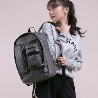 [Chinese Valentine's Day gift 25 fold] 2018 twin series - fantasy scarecrow bag - leather gray