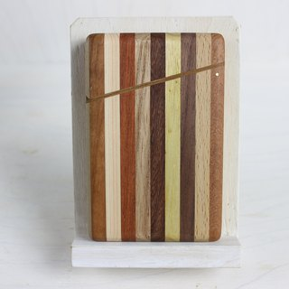 Parquet business card holder stripe