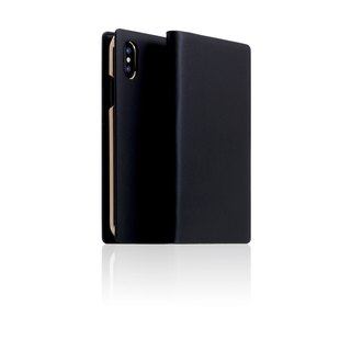 SLG Design iPhone Xs / X D5 CSL Classic Calfskin Side Leather Case - Black