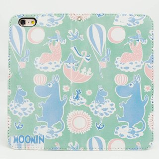 "Moomin Moomin genuine authority - Magnetic phone holster: [Amusement Park (white)] ""iPhone / Samsung / HTC / ASUS / Sony"""