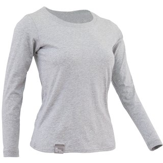 ✛ tools ✛ female version Qingshu cotton round neck long-sleeved gray T # comfort :: :: :: skin-friendly cotton