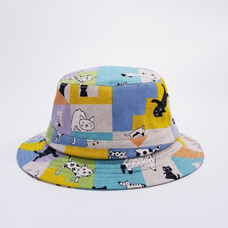 British disc gentleman hat blue color matching cat 2018 summer new product # upgrade fisherman hat section # Valentine's Day