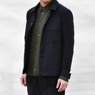 Elastic Shirt Jacket with Pocket