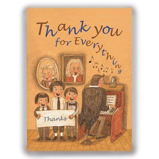 Hand-painted illustration universal card / postcard / card / illustration card - chorus thank you card