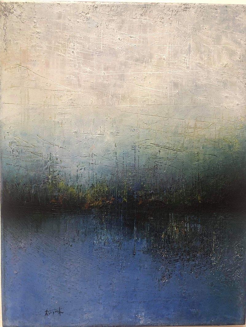 林麗雲油畫創作原作   霧色