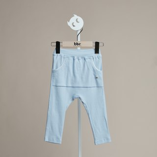 Sports style big pocket trousers (blue)