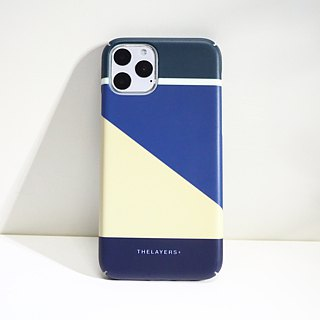 GRAPHIC PRINT -  BLUE iPhone Case