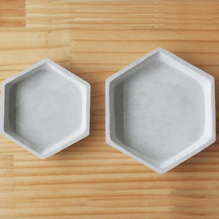 Hex Plate | Hex Plate. Geometric storage tray / storage tray / water tray / candlestick / ornaments / business cards