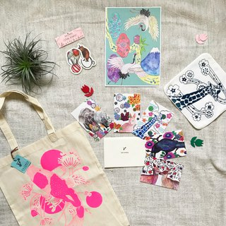 Goody Bag - Animal Illustration Various Set (Happy Bag)