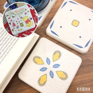 [MBM] MBM tile diatomaceous earth coaster set (a box of 5 into) to give Disney does not pick a coaster