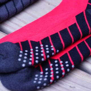 5713 Bamboo charcoal twill air cushion Cycling socks Red slip (3 colors optional)