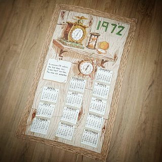 1974 American Early Cloth Calendar Lovely Manor