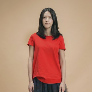 a la sha+a reverse low-key point with cotton T-red