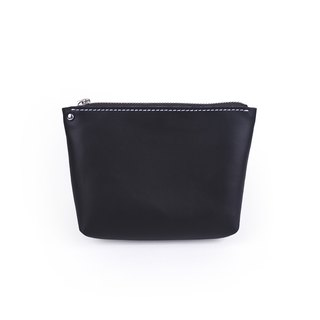 [LAMB]|Cosmetic Pouch [S]|Zipper Toiletry Makeup Bag Cork Wood