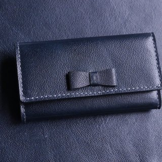 Ink blue leather key cases