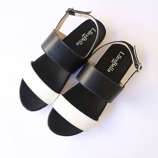 【Piano keys】 Simple style  Super Elastic sandals