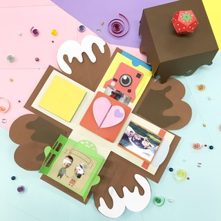 Chocolate Limited Edition Explosion box with 5 quaint features Materials Pack