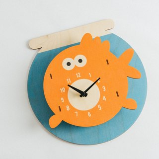 Modern moose-3D- goldfish clock