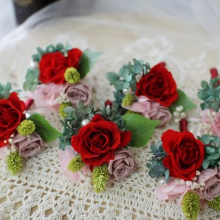 [Paragraph immortalized double flowers corsage flower wedding red rose] section - eternal flower / dried flower / bouquet jewelry / wedding bouquets Bouquet / Flower Ceremony