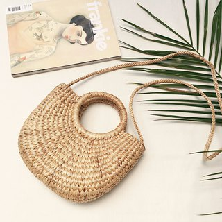 Natural Straw Long Straps Bag