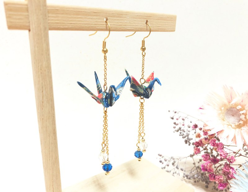 [Limited color system] Japanese thousand and paper crane series earrings