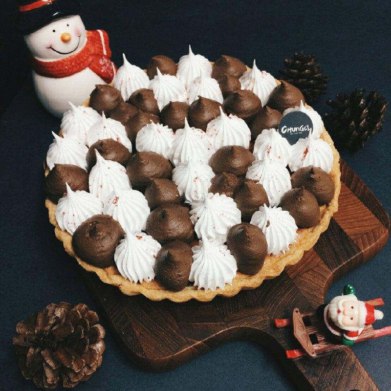 【Chungci Bakery】聖誕節推薦款 / 雙色巧克力塔 / 6吋