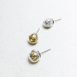 Glass Ball Earrings - Treasure Island - Metallic