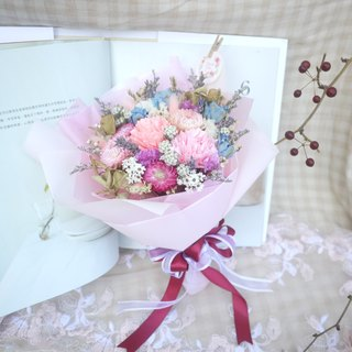 To be continued | Mother's Day defining dried flower bouquet carnation flower card attached manual