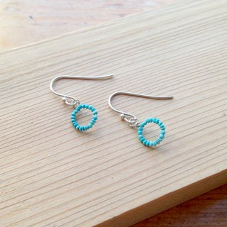 Classic Series-Turquoise of early spring-Handmade 925 sterling silver earrin