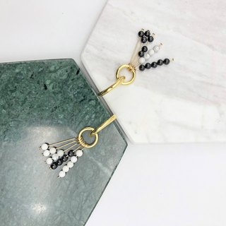Cool Magnesite 14kgf Earrings【Christmas Gift】【COLE COOL- Original Design- NO.4】