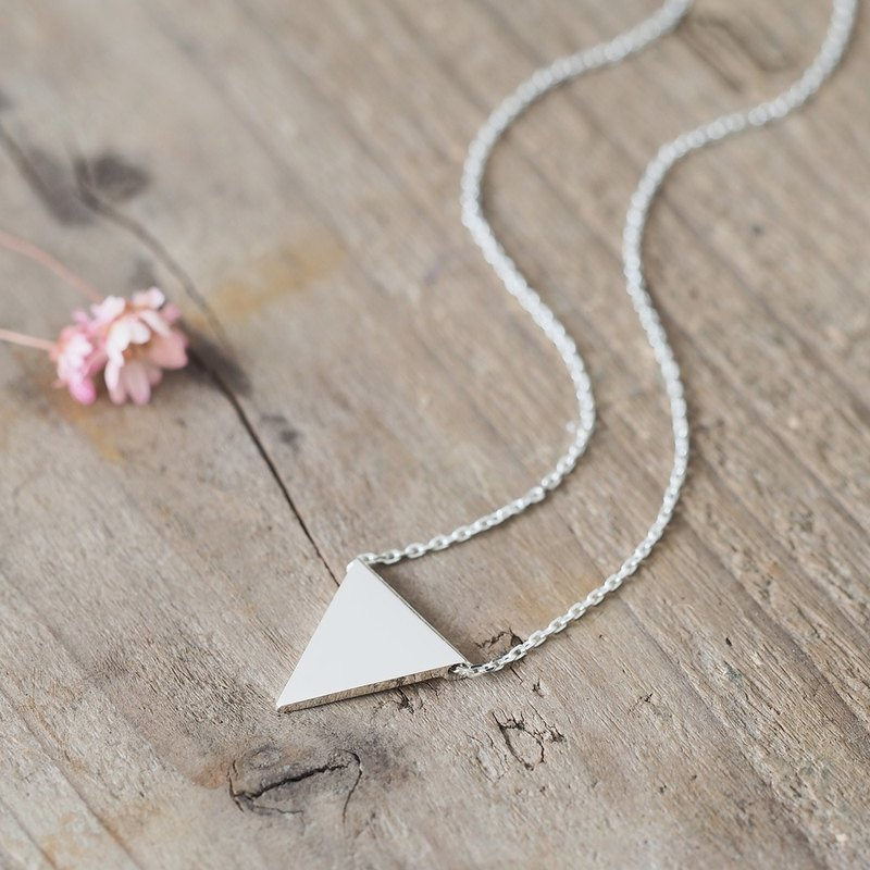 Flag triangle necklace 925 Sterling Silver