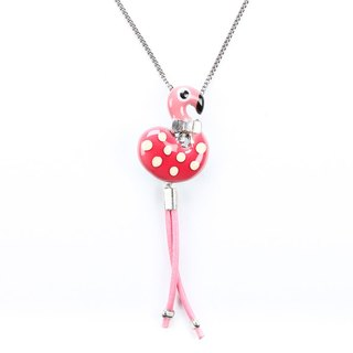 [France TARATATA Paris] animal party series flamingo single pendant necklace