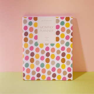 ARDIUM MONTHLY PLANNER(L) Monthly Plan Calendar (Large) - Color Dots